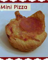 Mini Pizza using crescent rolls!