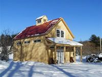 specializing in elegant and artistic barns using a modified post and beam structure and timber frame Barn Builders, Beam Structure, Post And Beam, Modern Barn, Elegant, House Styles, Massachusetts, Barns, Building