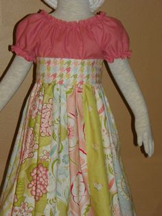 Cute Easter dress idea! Love this, I really need to figure out how to sew because my girls need dresses...