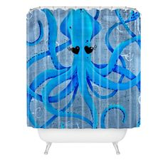 Mandy Hazell You Make Me Squidish Shower Curtain | DENY Designs Home Accessories