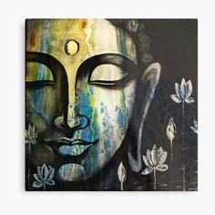 Buddha Images Paintings, Buddha Artwork, Black Canvas Paintings, Buddha Wall Art, Indian Art Paintings, Canvas Art, Buddha Wall Painting, Buda Painting, Buddha Drawing