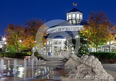 Coolidge Park Carousel, Chattanooga, Tennessee at dusk