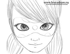 Как нарисовать Леди Баг из мф «Леди Баг и Супер Кот»