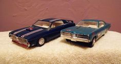1969 FORD GALAXIE LTD AND MERCURY COUGAR VINTAGE MODEL KIT CARS PYRO #Pyro