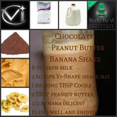 Chocolate Peanut Butter Banana Body By Vi Shake