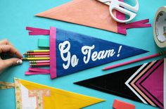 DIY Duck Tape Pennant Pencil Pouch for Back to School – Indie Crafts