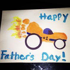 father's day handprint car art - Google Search
