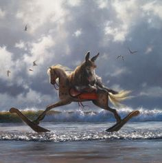 Born in Wexford, Jimmy Lawlor now lives and works in Mayo. Initially working in the field of Illustr. Double Exposition, Jimmy Lawlor, Beyond The Sea, Weird Creatures, White Horses, Pop Surrealism, Illustrations, Surreal Art, Large Prints