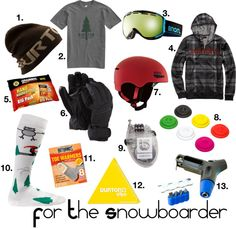 """""""Gift Guide - For the Snowboarder"""" by fontanasports ❤ liked on Polyvore"""
