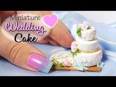Cute Miniature Wedding Cake Tutorial // Dolls/Dollhouse - YouTube
