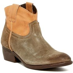 Steve Madden Midnite Cowboy Ankle Boot ($70) ❤ liked on Polyvore featuring shoes, boots, ankle booties, ankle boots, cognac mult, steve madden booties, cowgirl boots, western booties and faux-leather boots