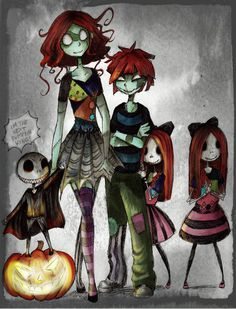 The children of Halloween Colourtest by ~HorrorPillow on deviantART