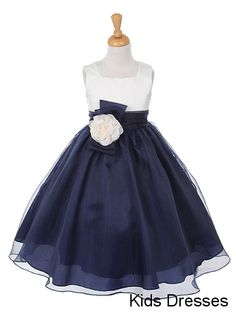 A-line Square Sleeveless Chiffon And Satin Flower Girl Dress With Sash on Etsy, $35.00