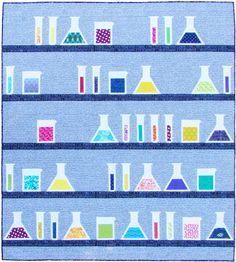 Potions science/Halloween/magic/Harry Potter themed quilt pattern by Flying Parrot Quilts
