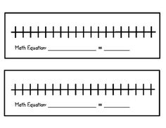 Number Line for Addition & Subtraction Equations Grade CC) Teaching Second Grade, 2nd Grade Math, Student Teaching, Grade 2, Teaching Ideas, Printable Number Line, Math Classroom, Classroom Ideas, Math Boards