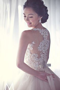 Illusion back Veluz Bride wedding dress | The Wedding Scoop Spotlight: Sexy Wedding Dresses