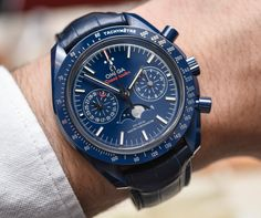 Omega Speedmaster 'Blue Side Of The Moon' Co-Axial Master Chronometer Chronograph Moonphase Watch