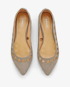 Laser Cut Pointed Toe Flats from EXPRESS
