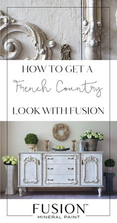 Learn how to create the French Country Look using Fusion Mineral Paint - this DIY furniture tutorial will help you create an authentic French Country piece. Country Look, French Country Furniture, French Country Bedrooms, French Country Cottage, Country Farmhouse Decor, Country Style Homes, French Country Style, Farmhouse Furniture, Country Bathrooms