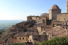 Blick auf Volterra, Italien