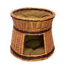This two tier cat house basket gives your cats a home inside your home It is made from high quality European grown chemical free wicker Panel Radiators, Animal Gato, Cosy Bed, Cat Basket, Cat Hammock, Dog Furniture, Cat Tunnel, Cat Room, Outdoor Cats
