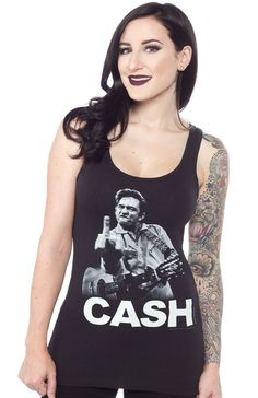 JOHNNY CASH THE BIRD TANK TOP $25.00 #johnnycash #rockabilly