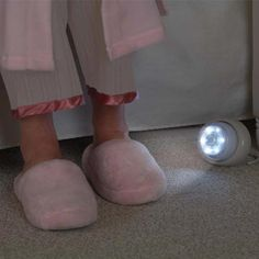 Motion-Activated Light Owl comes on when you get up. Also use in a hallway or bathroom. Self-standing.