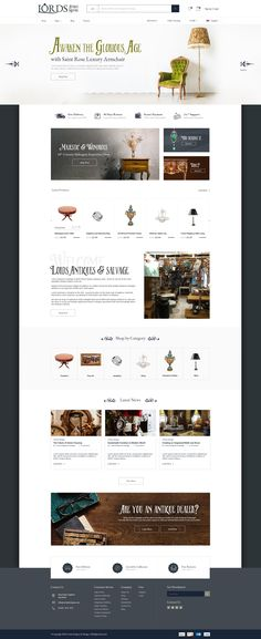 The neat design and polished layout really makes this e-commerce website not only standout, but also user-friendly! Ecommerce Website Design, Antique Shops, Crayons, Layout, Luxury, Antiques, Antiquities, Antique Stores, Antique