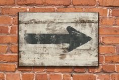 Distressed vintage looking arrow wooden sign  by DesignHouseDecor, $35.00
