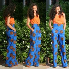 Wide Leg African Print Pants by MelangeMode on Etsy, $105.00