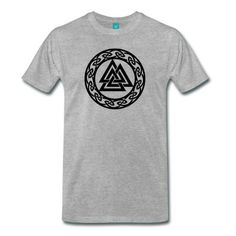 Valknut - Wotan's Knot is sign of Wotan and his elect (Walhalla Warrior). It symbolizes the three aspects of Wotan (Odin) - warrior, shaman, & Walker in the 9 worlds. I T-Shirts.