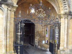 Sherborne Abbey - Sherborne - door / gate. Sherborne, England, GB