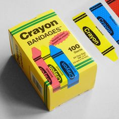Crayon shaped plasters/band aids. Perfect for paper cuts! Online & in-store.