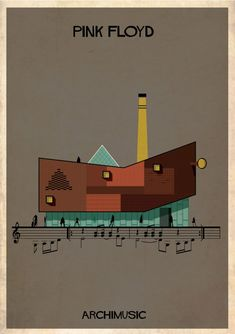 "ARCHIMUSIC: Illustrations Turn Music Into Architecture - Federico Babina / Pink Floyd, ""Wish You Were Here"""