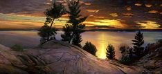 Landscape Paintings of Killbear Provincial Park by Arthur Chartow Landscape Art, Landscape Paintings, Ontario Provincial Parks, Ontario Parks, Ontario Travel, Algonquin Park, Beautiful Landscapes, The Great Outdoors, Cool Pictures