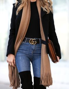 Winter Style: All Legs and Gucci Belt