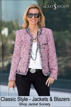 Take a look at Palma Pink Boucle Jacket and many other classic chic jackets and blazers in our online store.
