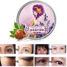 Removes Puffiness Wrinkles Dark Circle Gold snail Firming Repair Eye Cream E50