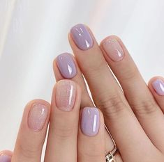 Stylish Nails, Trendy Nails, Cute Acrylic Nails, Cute Nails, Nail Manicure, Gel Nails, Short Nails Shellac, Short Nails Art, Manicure Ideas