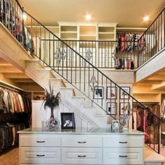 The two-story closet!  OMG!  This is what I imagine heaven is like!