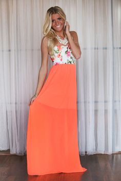 Modern Vintage Boutique - Roses and Neon Maxi Dress, $42.00 (http://www.modernvintageboutique.com/roses-and-neon-maxi-dress.html)