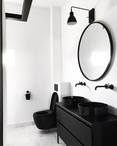 Cocoon black bathroom taps inspiration black taps and fixtur Bad Inspiration, Decoration Inspiration, Bathroom Inspiration, Decor Ideas, Black Bathroom Taps, Modern Bathroom, Small Bathroom, Bathroom Toilets, Bathroom Faucets