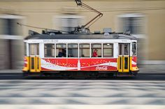 Tramway in Lisbon (Praça do Município), Portugal Lisbon City, Commuter Train, Buses And Trains, Bonde, Light Rail, Taking Pictures, The Good Place, Transportation, Trains