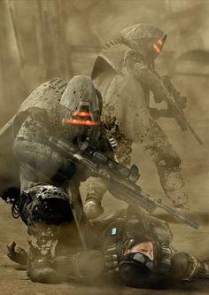 Killzone Futuristic Armour, Futuristic Art, Robot Concept Art, Armor Concept, Cyberpunk Character, Cyberpunk Art, Character Concept, Character Art, Character Design