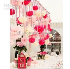 Wholesale colorful tissue paper flower ball Tissue Paper Pom Poms 12 wedding party decoration, Free shipping, $1.09-2.24/Piece | DHgate