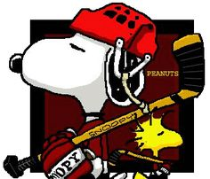 This is the only way you would get me to play hockey.with snoopy and woodstock! Snoopy Love, Charlie Brown And Snoopy, Snoopy And Woodstock, Peanuts Cartoon, Peanuts Snoopy, Blackhawks Hockey, Chicago Blackhawks, Hockey Baby, Ice Hockey