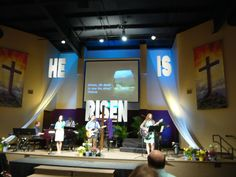 church stage design easter - Google Search
