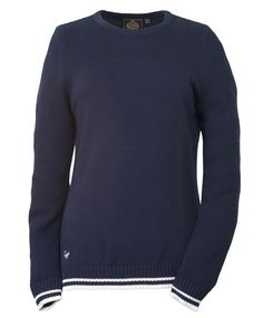 Justine, Ladies knitted cotton jumper in Night Blue colour. See more from the NEW SS15 collection at www.Toggi.com