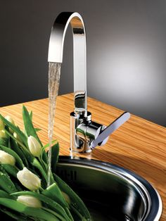 Contemporary Kitchen Sink Tap  Brushed Steelfrom Homebasecouk Pleasing Designer Kitchen Taps Uk Decorating Design
