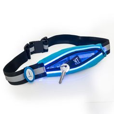 Light-Up Running Belt With Reflective Strip Holds Keys, Phone and Valuables While Keeping You Visible Running Shorts Outfit, Best Running Shorts, Long Sleeve Running Shirt, Running Belt, Running Tank Tops, Up And Running, Running Form, Battery Operated Led Lights, Gifts For Runners